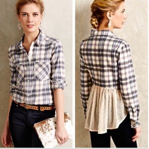 Holding Horses Willow Ridge Flannel Plaid Top Med